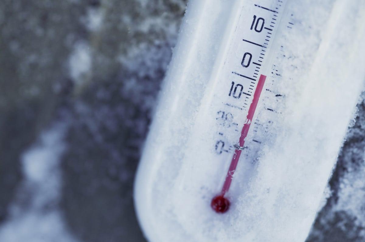 thermomètre gelé