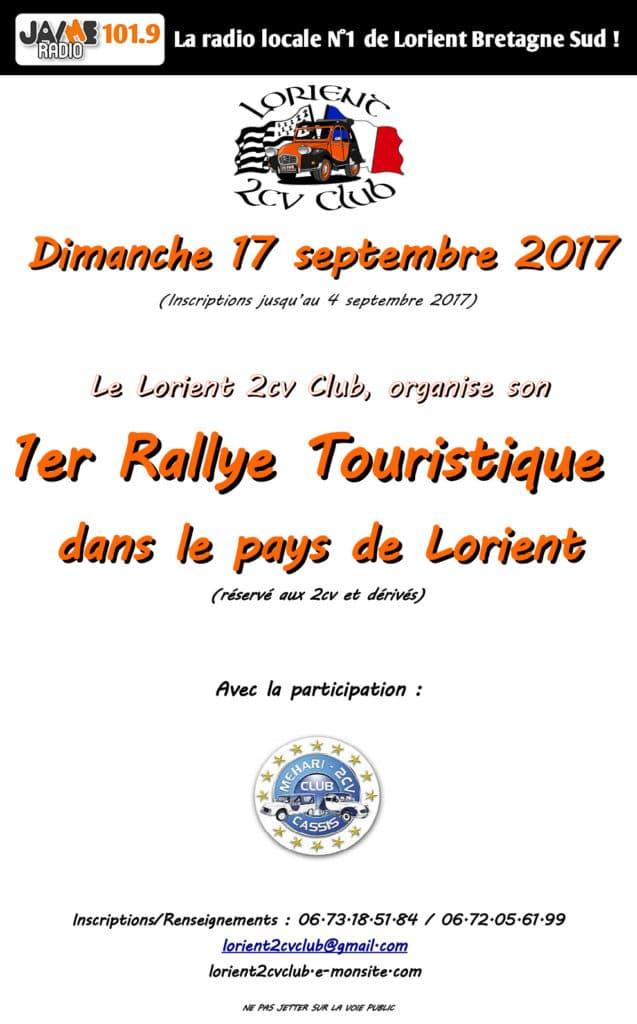 Affiche rallye 2CV 2017