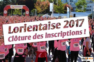 Lorientaise 2017, cloture inscriptions
