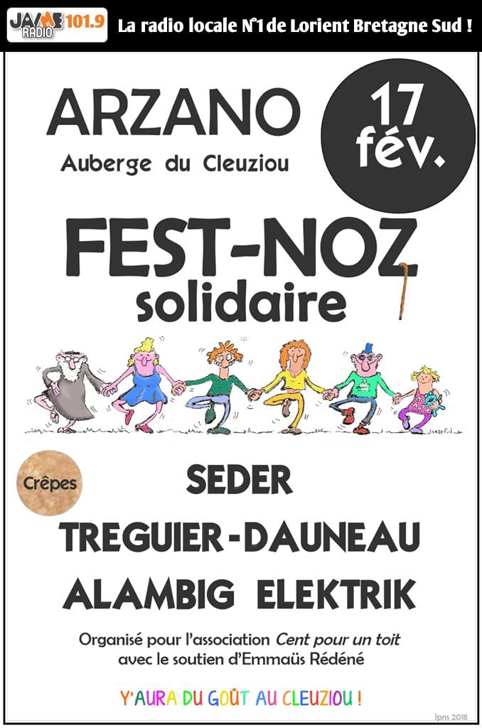 Fest Noz Solidaire Ce Samedi 17 Fevrier à Arzano Dès 21h