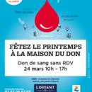 Don de sang Maison du don Lorient 24 mars